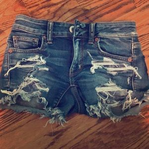 American eagle cute midi ripped shorts